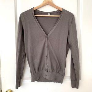 Uniqlo Gray UV Cut Supima Cotton Cardigan